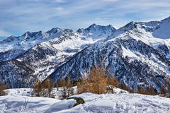 Winter view of the mountains in Pejo, Italy Stock Photography