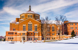 Winter view of the National Shrine of Saint Elizabeth Ann Seton Royalty Free Stock Photos