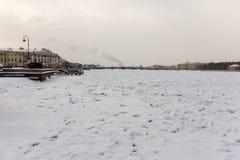 Winter view Neva river Saint Petersburg Royalty Free Stock Images