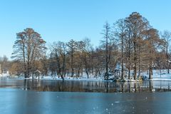 Winter on the lake Royalty Free Stock Photo