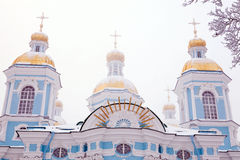Winter view of Nicolsky Sobor Royalty Free Stock Photography