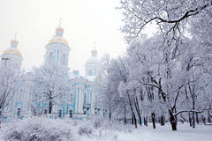 Winter view of Nicolsky Sobor Stock Photography