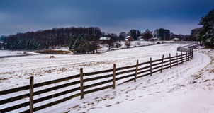 Free Winter View Of A Farm In Rural York County, Pennsylvania. Stock Photography - 47868022