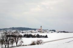 Winter view of Ohmenheim (Neresheim), Baden-Wurttemberg, Germany Royalty Free Stock Photography
