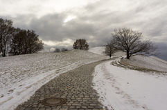 Winter view at Olympiapark Munich Munchen Germany Royalty Free Stock Photos