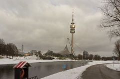 Winter view at Olympiapark Munich Munchen Germany Stock Photography