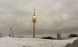 Winter view at Olympiapark Munich Munchen Germany Stock Photo