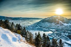 Free Winter View On Bergen Royalty Free Stock Photography - 48604047