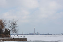 A winter view of Ontario lake front, Toronto, Canada Stock Photos