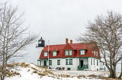 Winter View of Point Betsie Royalty Free Stock Image