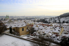 Winter view of Prague Stock Photo