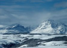Winter View of Rising Wolf Mountain royalty free stock photography