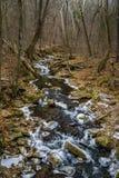 Winter View Roaring Run Creek - 2. A winter view Roaring Run Creek located in the Appalachian Mountains, Botetourt County, Virginia, USA royalty free stock photography