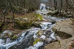 Winter View of Roaring Run Falls. Located Eagle Rock in Botetourt County, Virginia stock photo