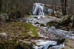 Winter View of Roaring Run Falls - 2. Winter view of Roaring Run Falls located Eagle Rock in Botetourt County, Virginia royalty free stock image