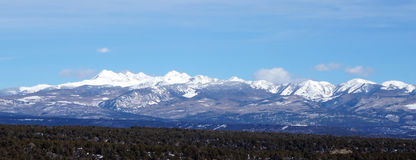 Winter view of Rocky mountain Royalty Free Stock Image