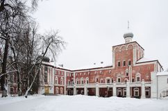 Winter view of Simon block in Vologda Kremlin Russia stock photos