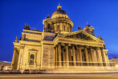 Winter view of St. Isaac`s Cathedral in St. Petersburg winter vi Royalty Free Stock Photography
