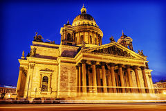 Winter view of St. Isaac's Cathedral in St. Petersburg winter vi Royalty Free Stock Photography