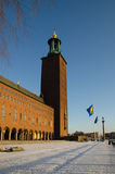 Winter view at Stockholm City Hall Royalty Free Stock Photo