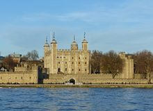 Tower of London from City Hall royalty free stock photography