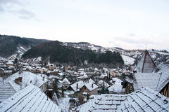 Winter View of a town Royalty Free Stock Image