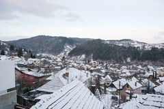 Winter View of a town Stock Photos