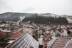 Winter View of a town Royalty Free Stock Images