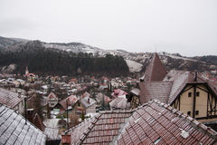 Winter View of a town Royalty Free Stock Photo