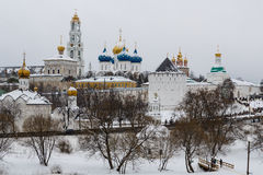 Winter view of Trinity Lavra Royalty Free Stock Image