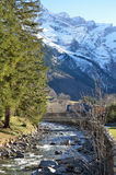 Winter view of the village Gavarnie Royalty Free Stock Image