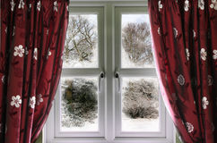 Winter view from a window Stock Photos