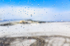 Winter view of window Royalty Free Stock Images