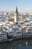 Winter view of Zurich Royalty Free Stock Photography