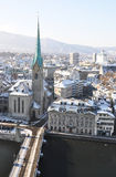 Winter view of Zurich Stock Photography