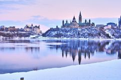 Winter views of Canada during day stock image