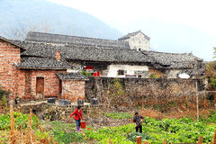 The winter views of  countryside  in China Royalty Free Stock Images