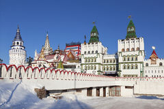 Winter views of the Izmailovo Kremlin, the well known tourist attraction Stock Photos
