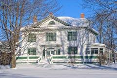 Winter-Villa Stockfotografie