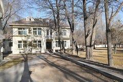 Winter villa garden. The landscape of winter villa garden Royalty Free Stock Photography