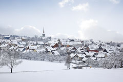 Winter village Stock Photo