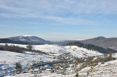 Winter village Stock Photography