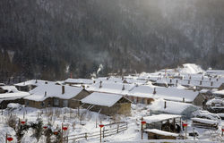 Winter village Stock Image