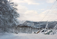 Winter village Royalty Free Stock Images