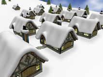 Winter village Royalty Free Stock Photos