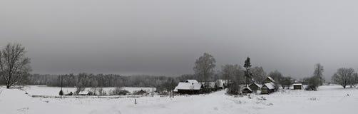Winter in the village. Pskov region, Russia Royalty Free Stock Photos