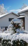 Winter village Royalty Free Stock Photography