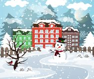 Winter village Royalty Free Stock Image