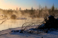 The winter Village Stock Photos