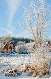 A Winter village royalty free stock images